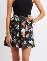 Charlotte Russe Floral Skater Skirt