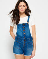 Superdry Dot Button Through Dungaree Shorts