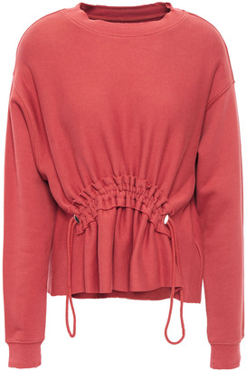 Current/Elliott Gathered French Cotton-terry Sweatshirt