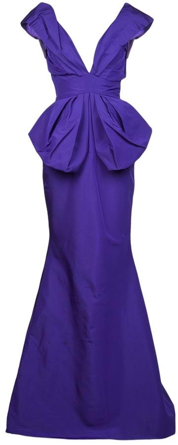 Oscar de la Renta plunging v-neck gown