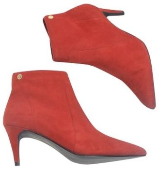 Copenhagen Shoes - Red Suede Low Cut Boots - 36   suede leather   red - Red/Red