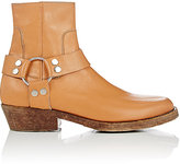 Balenciaga Women's Harness-Strap Leather Ankle Boots-TAN