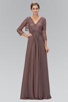 Elizabeth K - Lace V-Neck A-Line Gown with Bolero GL1397