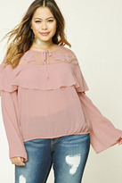 Forever 21 FOREVER 21+ Plus Size Flounce Top