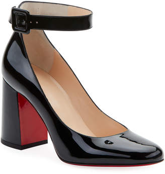 Christian Louboutin Soval Patent Red Sole Pumps