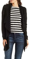 Charlotte Russe Ribbed Cascade Cardigan
