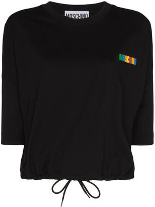 Moschino logo-appliqued cotton T-shirt