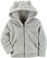 Carter's Baby Girl Velboa Hooded Jacket