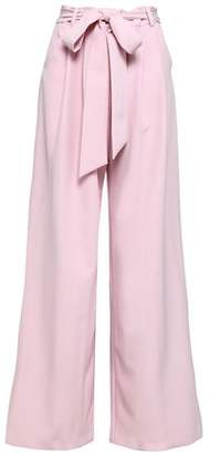 Milly Natalie Belted Cady Wide-leg Pants