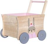 Bloomingville - Children's Rose Push Wagon - Bunny