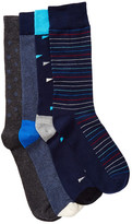 Happy Socks Combed Cotton Crew Socks - Pack of 4