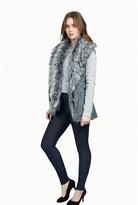 Select Fashion Fashion Womens Grey Fur Front Pu Gilet - size 6