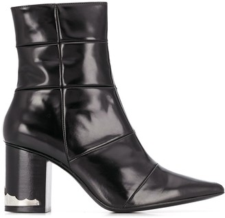 Toga Pulla Contrast Panel Hardware Detail Ankle Boots
