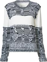 Maison Margiela cable knit paneled jumper