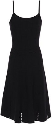 Sandro Winsley Pointelle-trimmed Stretch-knit Dress