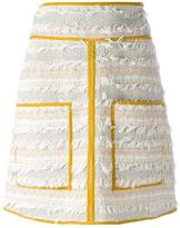 See by Chloe frayed boucle skirt