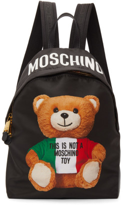 Moschino Black Italian Teddy Backpack