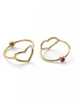 Jordan Askill Gold Heart and Ruby Ring