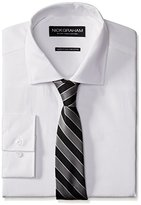 Nick Graham Men's Cotton Poplin Dress Shirt