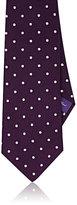Ralph Lauren Purple Label MEN'S POLKA DOT SILK SATIN NECKTIE