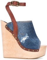 DSQUARED2 Denim Wedge Sandals