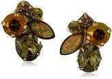 "Sorrelli Green Tapestry"" Clip-On Earrings"