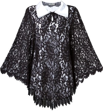 Martha Medeiros Lace Overlay Dress