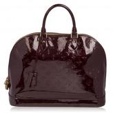 Louis Vuitton excellent (EX Dark Purple Patent Leather Alma Bag
