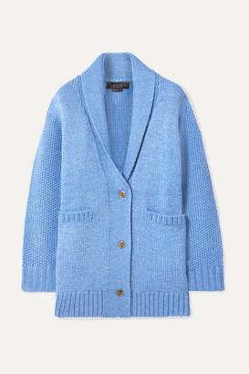 Hatch The Blair Merino Wool-blend Cardigan - Azure