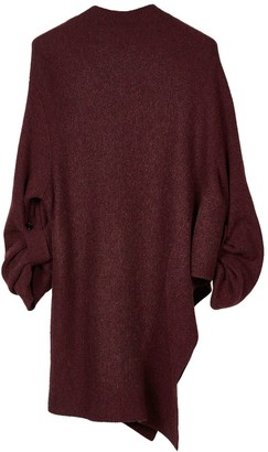 Oyuna Anja Knitted Cashmere Dress In Wine Mix