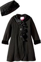 Good Lad Little Girls' Animal Ruffle Trimmed Fleece Coat