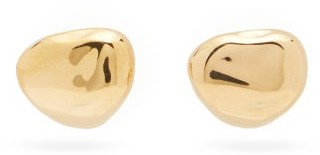 Bottega Veneta Nugget 18kt Gold-plated Stud Earrings - Gold
