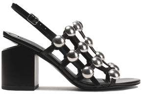 Alexander Wang Nadia Studded Caged Leather Slingback Sandals