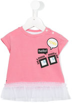 Fendi ruffled dress - kids - Cotton/Spandex/Elastane/Polyamide - 12 mth