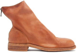 Guidi Zip Supple-leather Boots - Brown
