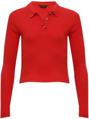 M&Co Teen long sleeve polo shirt top