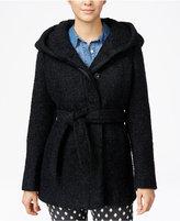 Coffeeshop Hooded Belted Walker Coat