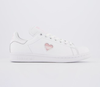 adidas Stan Smith Trainers White Clear Pink Heart Gold Metallic Exclusive