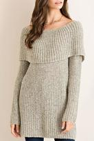 Entro Off-Shoulder Tunic Sweater