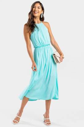 francesca's Myra Textured Flawless Maxi Dress - Mint