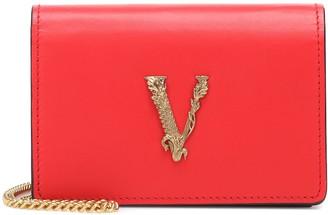 Versace Virtus Small leather shoulder bag