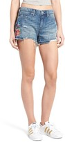 Blank NYC Women's Blanknyc Embroidered Denim Shorts