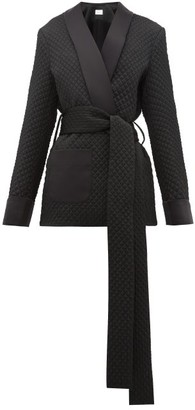 Racil Angel Belted Quilted-satin Wrap Jacket - Womens - Black