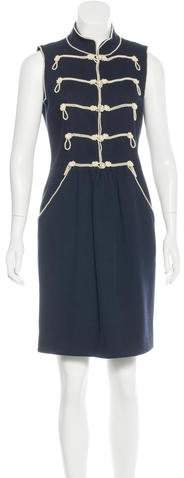 Chanel Embellished Corduroy Dress