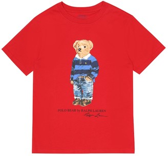Polo Ralph Lauren Kids Polo Bear cotton T-shirt