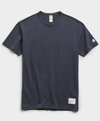 Todd Snyder + Champion Heavy Weight Short Sleeve Jock Tag Tee in Navy
