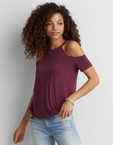 American Eagle Outfitters AE Soft & Sexy Cold Shoulder T-Shirt