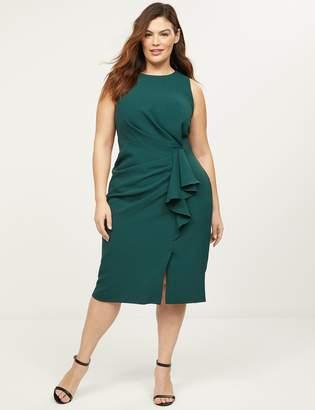 Lane Bryant Boatneck Ruffle Sheath Dress