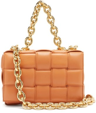 Bottega Veneta The Chain Cassette Intrecciato Padded Leather Bag - Tan
