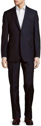 Saks Fifth Avenue Made In Italy Classic-Fit Wool Stripe Suit